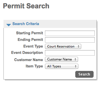 Permit Search